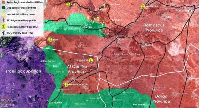 Territorial Control Map - Qunitra - 21 Dec. 2017