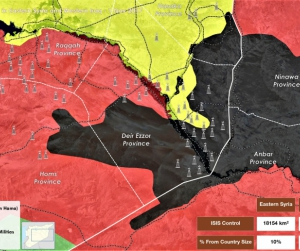 ISIS Areas of Control in Eastern Syria and Western Iraq