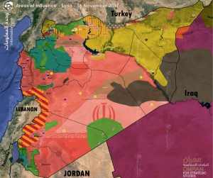 Map of Control and Influence: Syria
