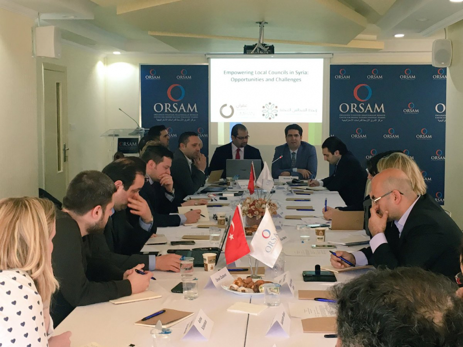 "Meeting entitled  ""Local Councils and Security Sector Reform in Syria"""