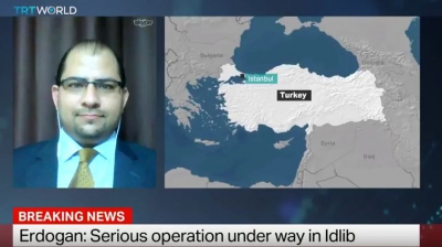 Dr. Ammar kahf talking about Turkey's Idlib Operation