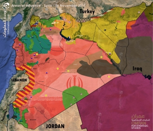 "Map of Control and Influence: Syria ""16 November 2017"""