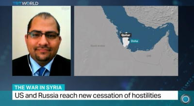 TRT World Interview with Ammar Kahf about cessation deal reached by US and Russia