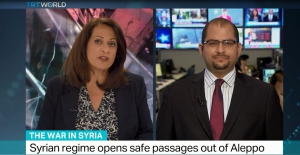 TRT World -Interview with Dr. Ammar Kahf about safe passages out of Syria