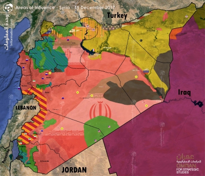 "Map of Control and Influence: ""Syria 15 December 2017"""