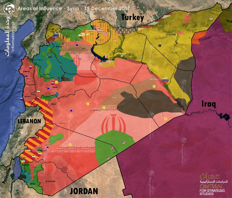 map of control and influence syria 15 december 2017